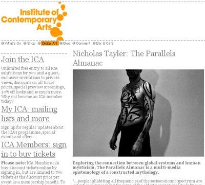 ICA webpage